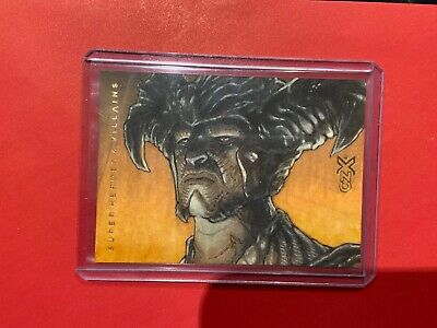 MIKE BABINSKI 2019 CZX DC SUPER HEROES VILLAINS signed SKETCH 1/1 Steppenwolf