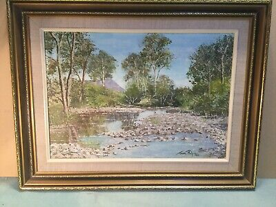 Jean Philp 1982 Little River Taggerty Framed Oil Painting
