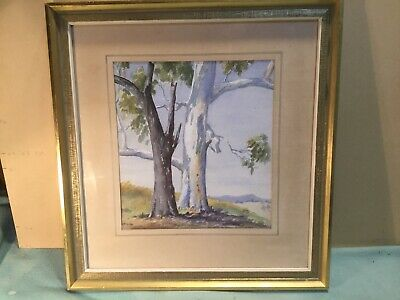 McInnes Two Gums Yea Victoria Framed Watercolour Painting