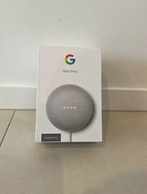 Google Nest Mini (2nd Generation) Smart Home Speaker - Chalk - Like New