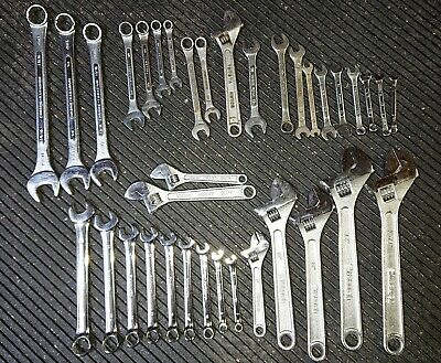 36 Stanley Combination Box Quick Open End Wrenches Fuller Globemaster SAE Metric