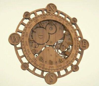 3d model relief for cnc router in STL file format clock