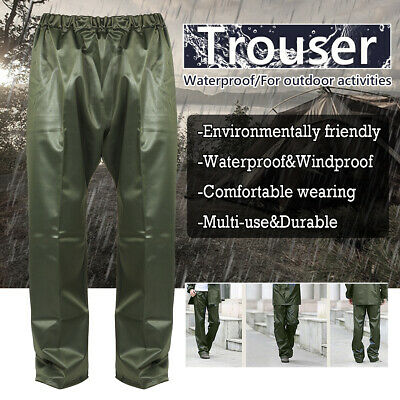 Thick PVC Adults Waterproof Over Trousers Mens Ladies Womens Fishing Golf Bike