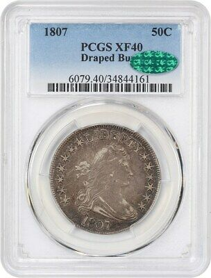 1807 50c PCGS/CAC XF40 (Draped Bust) Great Early Type Coin - Bust Half Dollar