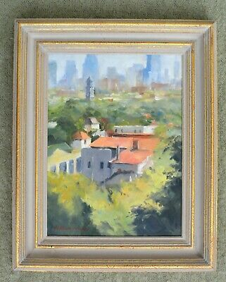 Jacqueline Fowler original oil painting  Across  To Collingwood 2001