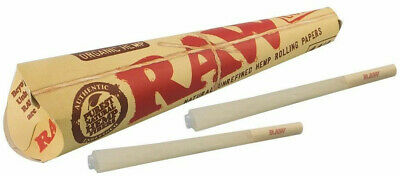 4 Packs of 6 Ea RAW Rolling Paper Cones Organic Hemp Pre-Rolled Size 1 1/4