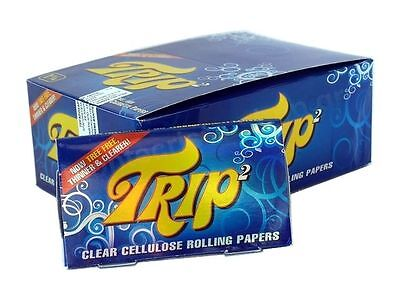 1x Box Trip2 1 1/4 Clear Cellulose Transparent Cigarette Rolling Papers
