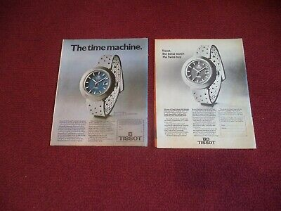 Tissot  Sideral  Watch Vintage    Two  Different  Magazine Adverts Same Watch