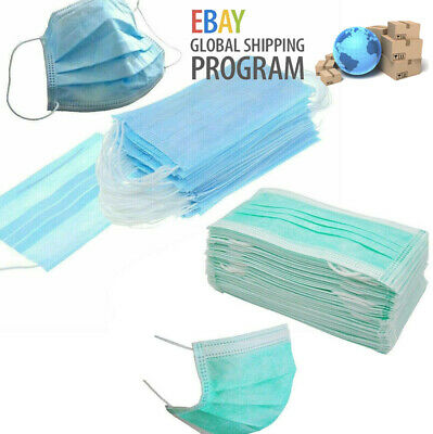 Disposable 3 Ply Face Mask Surgical Dental Nail Salon Dust Medical Face UK Stock
