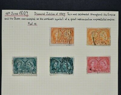 CANADA, a collection of older stamps on 6 album pages, mainly used condition.