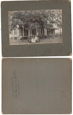 IDed Family Photo Of Woodward Family Nashville Tennessee 1900s Cardboard Photo