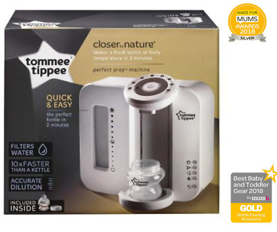 Tommee Tippee Closer to Nature Perfect Prep Day N Night Machine Baby Bottle Warm
