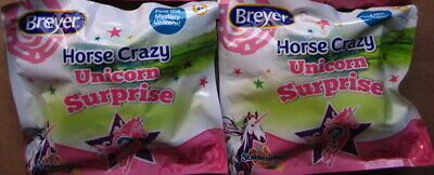 Breyer 2018 Horse Crazy Mystery Unicorn Surprise Stablemate Lot of 2 ~ Sealed!