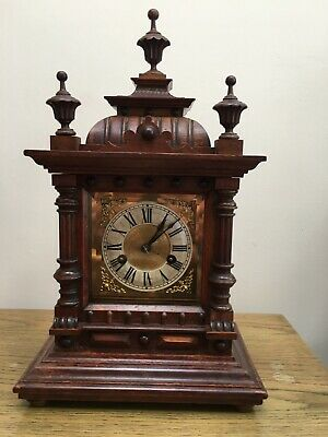 LATE 19TH CENTURY  WALNUT  MANTLE CLOCK by HAC