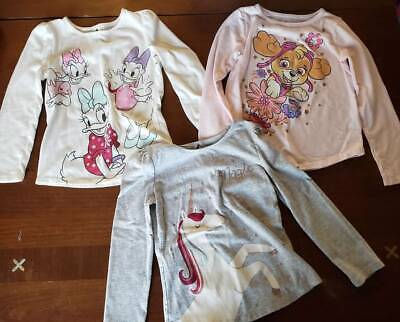 "Lot of 3 Girls size 6 ""Jumping Beans"" Long Sleeve Shirts- EUC"
