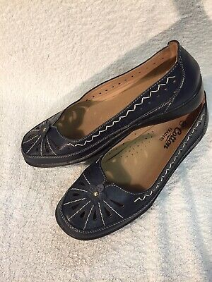 Cotton Traders Ladies Flats Size 6 UK Navy Blue