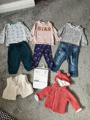 Baby Girl 6-9 Months Bundle Outfits Coat Vests M&S Next Name It