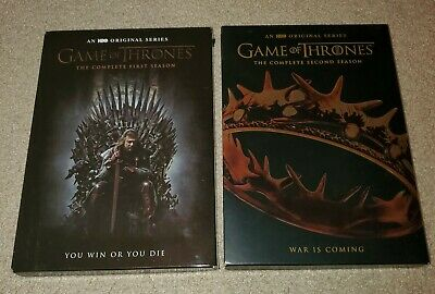 Game of Thrones Season 1 & 2 DVD - 5 Disc Complete Set - Like New HBO