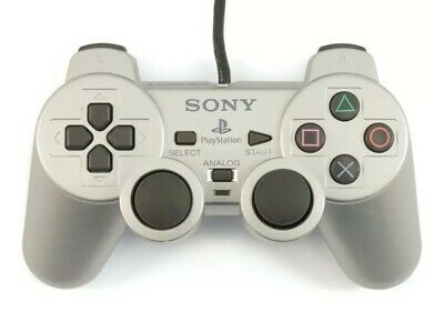 Sony Ps2 Controller Official Silver DualShock 2 🇬🇧UK Genuine Gaming Pad VGC