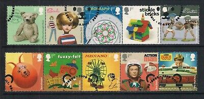 GB used stamps - 2017 Classic Toys, fine used, ex FDC