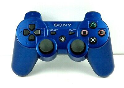 Sony Playstation 3 PS3 Sixaxis Dualshock 3 Blue Wireless Video Game Controller