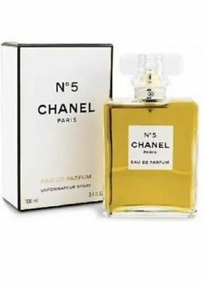 CHANEL No. 5 Paris Eau De Parfum EDP 3.4 oz / 100 ml, NEW AUTHENTIC