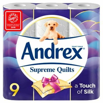 Andrex Toilet Rolls Supreme Quilts 4-Ply 124x103mm 160 sheets (9 Rolls)