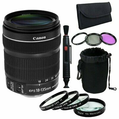 Canon EF 18-135mm f/3.5-5.6 is STM Lens + 67mmFilter Kit + 67mm Macro Close up K