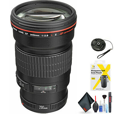 Canon EF 200mm f/2L is USM Lens for Canon EF Mount + Accessories (Intl Model) Mo