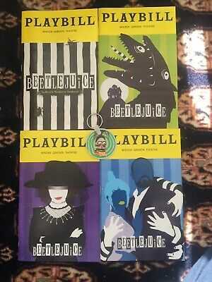 Beetlejuice Broadway Playbill Collection With Bonus Keychain