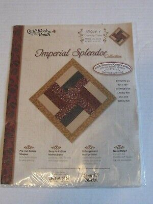 IMPERIAL SPLENDOR Jo Ann Fabric QUILT BLOCKS OF THE MONTH #  1 THREE BY THREE