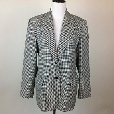 Pendleton Wool Blazer Jacket Womens 8 Houndstooth Plaid