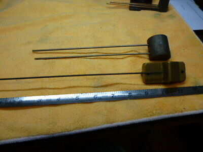 Two Antique Rod Chime Assemblies Two rod and one rod For Bim-Bam clocks