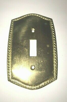 Victorian Style single toggle Switch Plate Covers Braid rope Polished Brass
