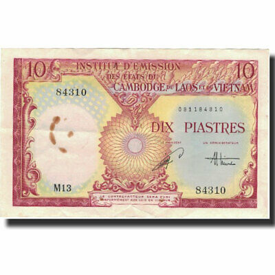 [#801768] Banknote, FRENCH INDO-CHINA, 10 Piastres = 10 Riels, Undated (1953)