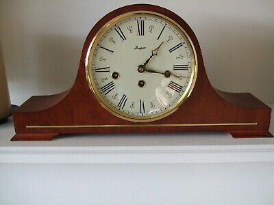 Lovely 8 Day Walnut Westminster Napoleon hat shaped Mantle Chime Clock Hermle?