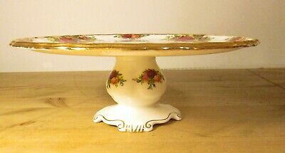 "Royal Albert ""Old Country Roses"" footed cake stand Vintage China"