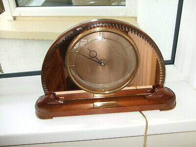 Vintage Smiths Sectric half moon shape good Vintage electric 1950 English clock