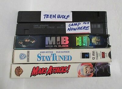 5 VHS Videos - Lot of 5 - Used - Read Description- #2 Listing - Crate #1