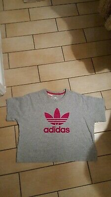 Girls ADIDAS crop top, gym/dance size 13/14 excellent condition