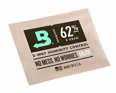 Boveda 8g 2-Way Humidity 62% box of 300 pieces  new and fresh