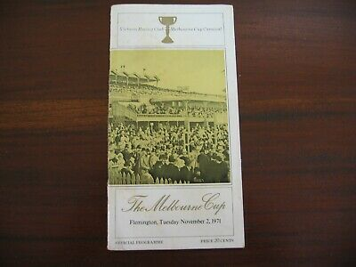 Race Meeting Book The Melbourne Cup 1971