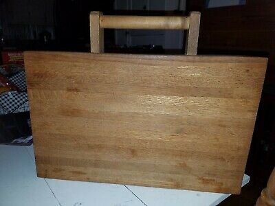 Oak Wood Cutting Board Vintage OLD Butcher Block Large19.5 THICK HEAVY handmade