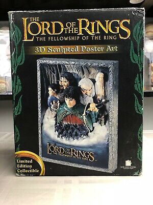 The Lord of the Rings Limited Edition 3D Sculpted Poster Art