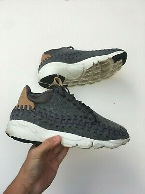 NIKE FOOTSCAPE WOVEN Chukka White Suede Sneakers UK7 EUR41