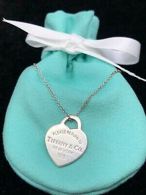 TC256 Tiffany & CO Sterling Silver Return to Heart Tag Necklace