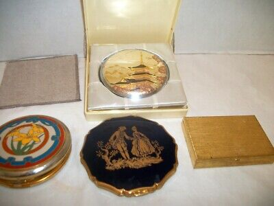 Four Vintage Powder Compacts, Elegance, Stratton, More