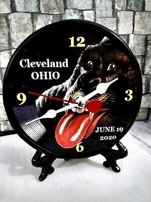 The Rolling Stones- Cleveland 2020 -5 Inch Desktop Clock/ Mancave/ Shecave