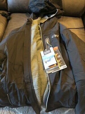 OUTDOOR RESEARCH MEN'S ASCENDANT HOODY Jacket S Black Pewter TRIM-FIT *BRAND NEW