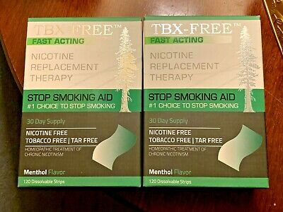 TBX-FREE Nicotine Replacement Therapy Stop Smoking Aid Dissolvable Strips